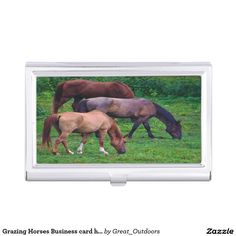 Grazing Horses Business card holder.