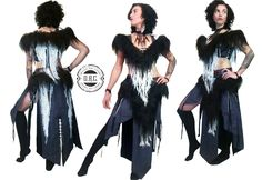 """A new woman's Shamanic outfit for the duo """"Chanahgurd"""" from Konigsberg! Materials: Linen, Cotton, Leather, Natural Fur, Metalaccessories Designed and Handcrafted by O.R.C.  https://www.facebook.com/Chanahgurd-175930355942627 #concertcostumes #concertoutfits #orc #orc_fashion #shaman #shaman_woman #druid #Chanahgurd #natural #handmade #handcrafted"""