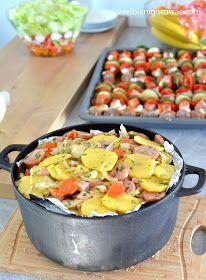 Pieczonki One Pot Pasta, Polish Recipes, Finger Foods, Potato Salad, Cake Recipes, Grilling, Food And Drink, Menu, Cooking Recipes