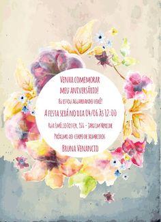 Convite de aniversario da sobrinha