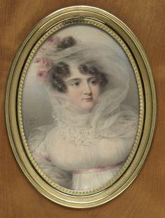 Portrait of Hortense de Perregaux, Duchess of Ragusa . Jean-Baptiste Isabey (French, 1767-1855)