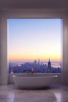 NYC. Manhattan View Bathing at dusk