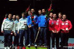 46° Glaive de Tallin Team Podium: Gold FRANCE , Silver ITALY, Bronze SWITZERLAND (Photo: Joosep MARTINSON)