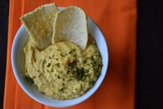 A creamy, delicious and smooth garlic and parsley hummus. Mediterranean-style with no tahini required!