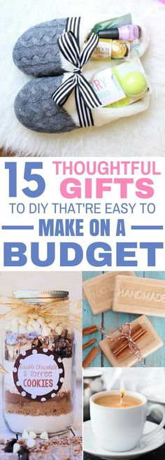 These 15 DIY Gifts Are AMAZING! They\'re so thoughtful yet easy and cheap to make on a budget! I love the caramel candle mug idea! #diy #diygifts #specialoccasion #gifts #giftbaskets #holidays