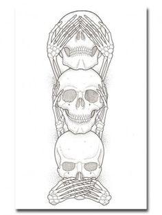"""No Evil"" Print by Ozzie Perez for Inked"