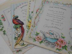 Vintage Greeting Card Lot of 11 Unused