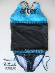 How to Turn a Bikini Into a Tankini {EASY!!} - Crystelle Boutique