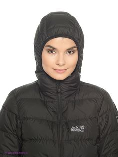 Пуховик HELIUM DOWN JACKET WOMEN Jack Wolfskin. Цвет черный. Вид 4.