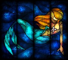 Mermaids by *mandiemichel  looks like stained glass