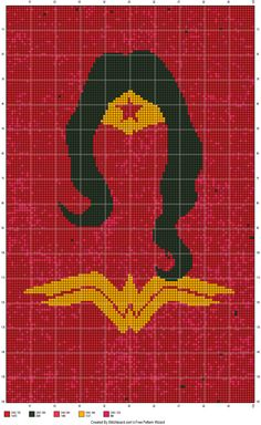 Wonder Woman cross stitch pattern