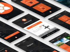 Mobile App Elder Product Mockup designed by Maria Salahovs. Connect with them on Dribbble; User Experience Design, Mobile App, Product Mockup, Invitations, Projects, Behance, Urban, Orange, Space