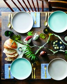 Forage branches and plants from your backyard for earthy, last-minute table toppers.