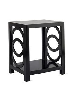 "Oslo Side Table by SHINE by S.H.O. Black lacquer side table. 24""W x 20""D x 29""H"
