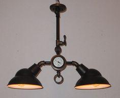 Steampunk lamp vintage industrial chandelier antique machine age edison bulb ceiling fixture steam punk. Steampunklights via Etsy.