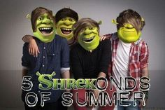 This is Just awesome 5 SHREKonds of Summer