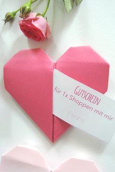 Brauchst Du Noch Eine Last Minute Geschenkidee Für Den Valentinstag? Dann  Sind Diese Origami