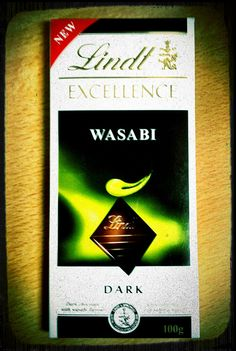Lindt Wasabi- Tried some of this recently and I love it! My husband went back to the store to buy me four more bars, lol. I am not really a huge chocolate lover and for the most part forgo sweets (cheesecake excepted on occasion, lol). I do like dark chocolate though and love the little slight bite the wasabi gives. I might have preferred it with a bit more wasabi, but still it's wonderful to snack on with a glass of red wine.