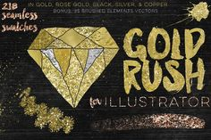 Gold Rush For Illustrator by Studio Denmark on @creativemarket