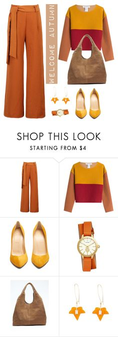 """Welcome Autumn"" by sara-cdth ❤ liked on Polyvore featuring WithChic, Philosophy di Lorenzo Serafini, Christian Louboutin, Tory Burch and Banana Republic"