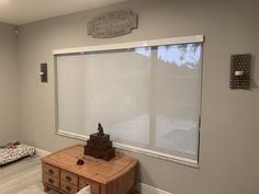 Screen Grey/White Privacy Roller Shade with White Flat Cassett Track by Elite Decor Window Treatments Miami Privacy Shades, Roller Shades, White Flats, Window Treatments, Grey And White, Family Room, Miami, Track, Windows