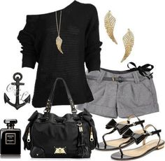 Black/grey attire