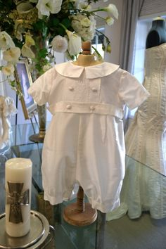 Baby Boy Baptism Outfit Boy Christening Outfit by CouturesbyLaura, $169.99