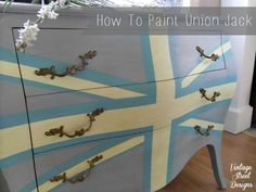 Excellent tutorial on How to Paint a Union Jack onto furniture.