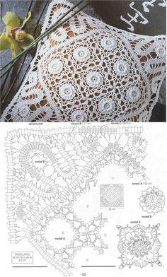Solo esquemas y diseños de crochet: encaje de brujas