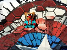 Handmade Bucky Bear, marvel superhero Bucky Barnes plushie, keychain made with polymer clay. Clay Bear, World Crafts, Bucky Barnes, Plushies, Captain America, Spiderman, Polymer Clay, Marvel, Handmade Gifts