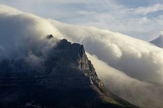 Smoking Table Mountain by Jason Henderson Canvas Prints, Framed Prints, Table Mountain, Image Collection, Beverly Hills, Smoking, Journey, Artist, Artwork