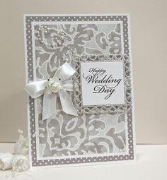 Wedding Card  Handmade Card  SilverGrey and by CardsbyGayelynn, $6.00