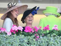 The Queen was spotted sharing a joke with her granddaughter Beatrice and Fergie in the royal box