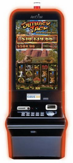 Aristocrat Gaming's Outback Jack Adventure Down Under is a 5 reel, 30 line penny video slot with a 50 credit minimum bet and 150 credit maximum. As with many of Aristocrats recent releases the game is housed in their VerveHD cabinet, with a 31.5 inch portrait monitor and full LCD button deck.     This slot is the sequel to the popular original Outback Jack, released several years ago and is obviously heavily themed in Australian stereotypes such as koalas, kangaroos and boomerangs.