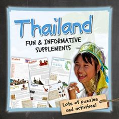 Let's get to know Thailand!   This worksheet includes 14 pages with a great variety of activities and exercises about Thailand. The materials have informative exercises about the things that Thailand is famous for, such as the tropical islands, elephants, tuk-tuks, the king, Buddhism and many other things! Crosswords, word searches, puzzles and other kinds of activities are included to make it a fun and interesting class.