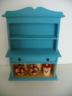 Handpainted Miniature Hutch by YourFineHouse on Etsy, 20.00