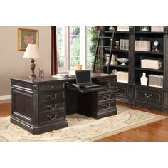 Found it at Wayfair - Grand Manor Palazzo Executive Desk and File Wall