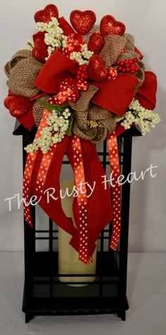 Valentine Lantern Swag by TheRustyHeart on Etsy, $24.99