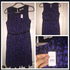 Loft Printed Dress  Trendy Loft Dress .. Never worn .. Perfect for the Spring 100% Polyester. LOFT Dresses