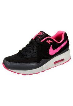 Trendy Nike Sportswear AIR MAX LIGHT ESSENTIAL Sneakers laag black/hyper pink/dark grey/summit white Sneakers van het merk Nike Sportswear voor Dames . Uitgevoerd in Zwart gemaakt van textiel.
