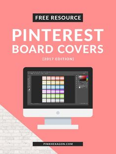 A free resource for creating square Pinterest Board Covers with Photoshop (2017 Edition).  Pinterest | Templates | How to create pinterest board covers | Pinterest templates | photoshop templates | pinterest board cover templates | square pinterest board