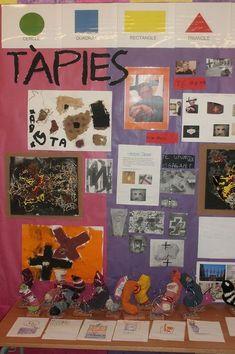 Escola Miquel Martí i Pol de Lliçà d'Amunt. Nens i nenes de P5. | Zoom Marti, Geometric Shapes, Triangle, Gallery Wall, Frame, Infants, Decor, Blue Prints, Pintura