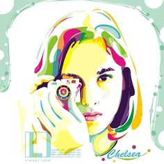 #chelsea #islan in #vector #popart by #limada #iqbal . . want to order my art? . you can check my ig @order.wpap