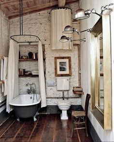 How to design a vintage style bathroom - Fat Shack Vintage - Fat Shack Vintage:  Love the tub and floor!