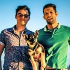 These lovely gents, are youtubers, their channel is 'shep689'!! Go and subscribe the make daily vlogs! They are gay men with their puppy dobby living in LA, on the left is Will and on the right is RJ, the are such inspirations and have many other channels. They are also engaged! I just think subscribing to these gents would ake the LGBT community bigger and stronger!  -sarah x  p.s; their channel is once again: shep689