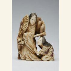 Netsuke: Tamamo no Mae and the Nine-Tailed Fox Japan, 19th century The Asian Art Museum
