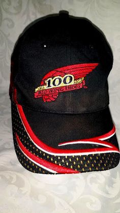 455555b7969 Vintage 2005 Red Wing Shoes 100 Years Anniversary Adjustable Hat Cap EUC