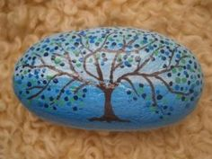 Painted rock Tree by PlaceForYou on Etsy, $8.99 by elvira