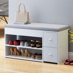 Shoe Storage Stool, Hallway Shoe Storage Bench, Under Shelf Storage, Shoe Bench, Seat Storage, Bench With Storage, Closet Storage, Storage Rack, Wooden Cabinets