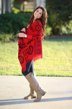 Can't Slow Down Cardigan - Red